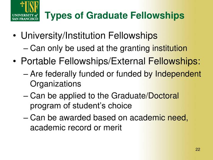 Types of Graduate Fellowships