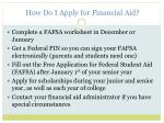 how do i apply for financial aid