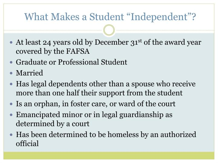 """What Makes a Student """"Independent""""?"""