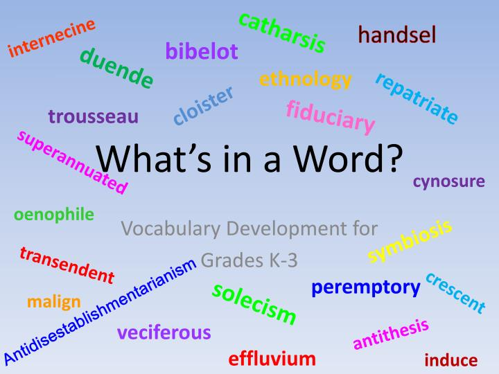What s in a word