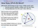 how does opus rs work1