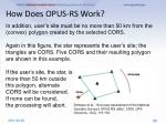 how does opus rs work2