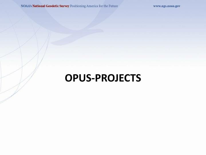 OPUS-Projects