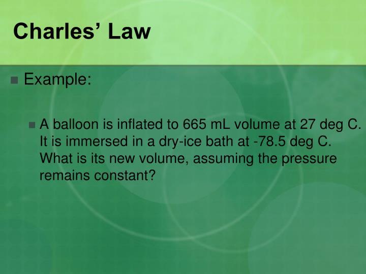 Charles' Law