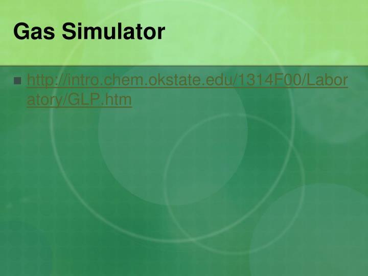 Gas Simulator