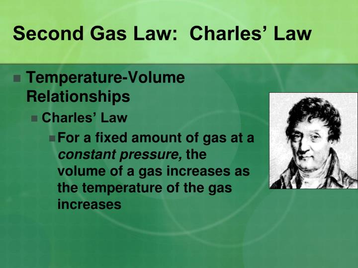 Second Gas Law:  Charles' Law