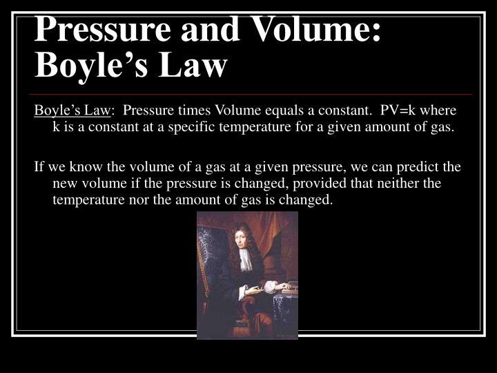 Pressure and volume boyle s law