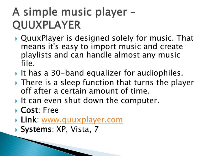 A simple music player –