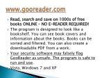 www gooreader com