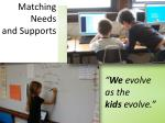 matching needs and supports