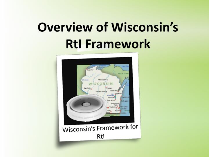 Overview of Wisconsin's