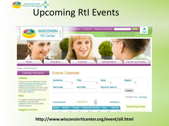 Upcoming RtI Events