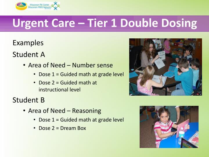 Urgent Care – Tier 1 Double Dosing