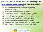 wisconsin rti center professional development