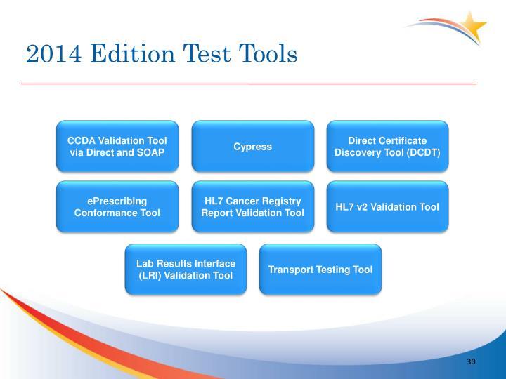2014 Edition Test Tools
