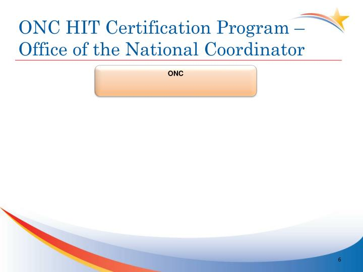 ONC HIT Certification Program – Office of the National Coordinator