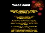 vocabularul