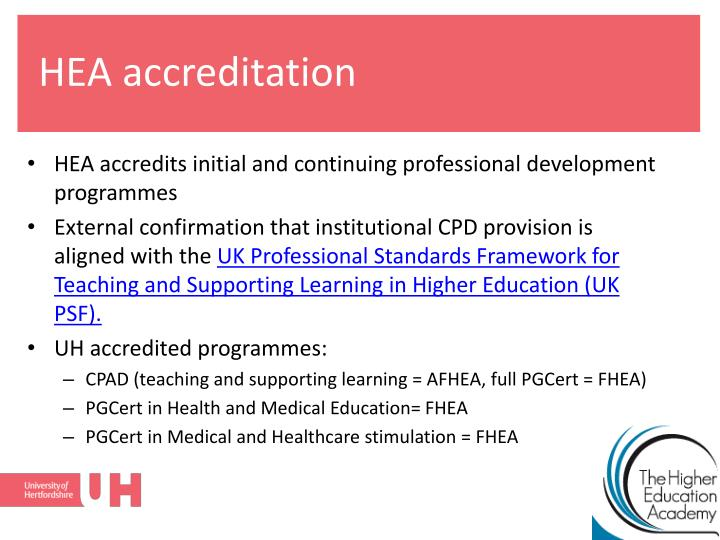 HEA accreditation