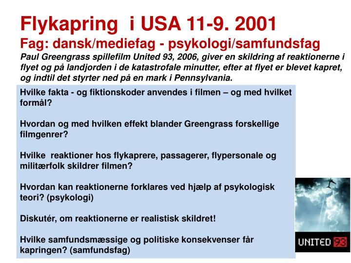 Flykapring  i USA 11-9. 2001