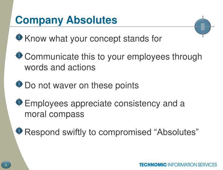 Company Absolutes