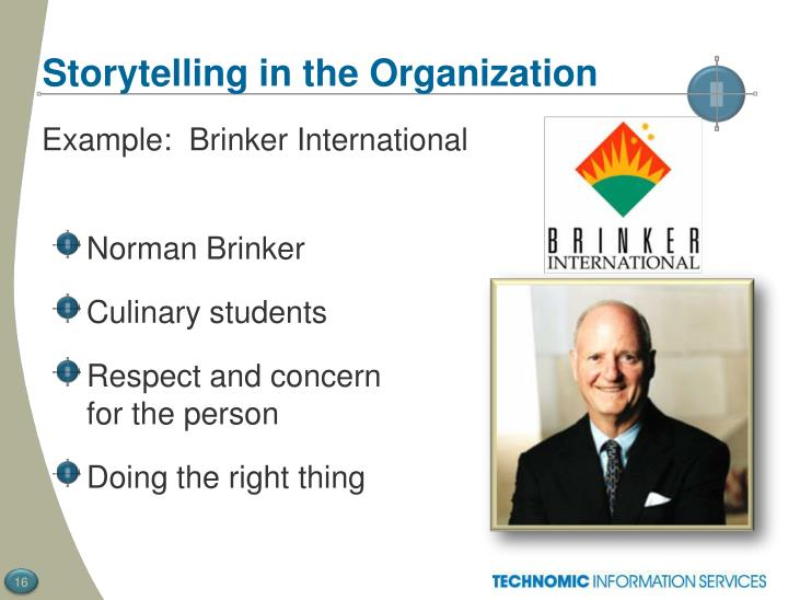 Storytelling in the Organization