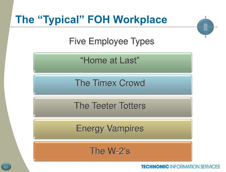 """The """"Typical"""" FOH Workplace"""