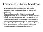 component 1 content knowledge