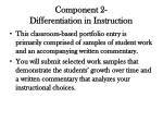 component 2 differentiation in instruction