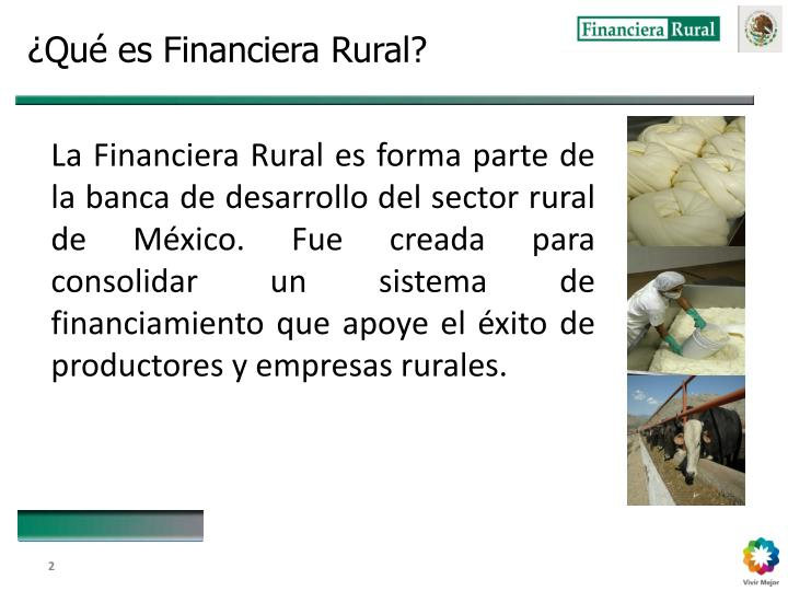 ¿Qué es Financiera Rural?