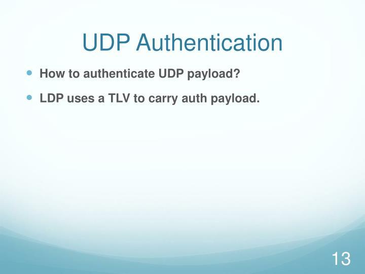 UDP Authentication