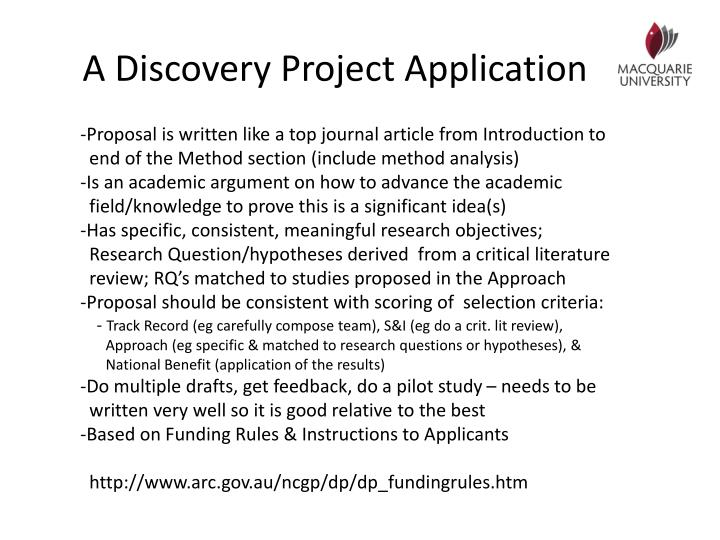 A Discovery Project Application
