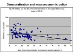 democratization and macroeconomic policy
