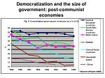 democratization and the size of government post communist economies