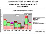 democratization and the size of government post communist economies1