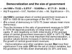 democratization and the size of government1