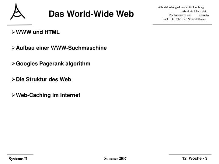 Das world wide web