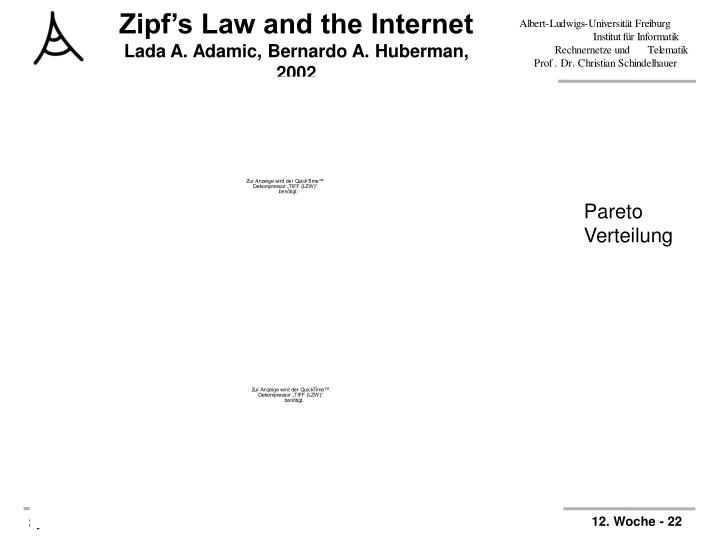 Zipf's Law and the Internet