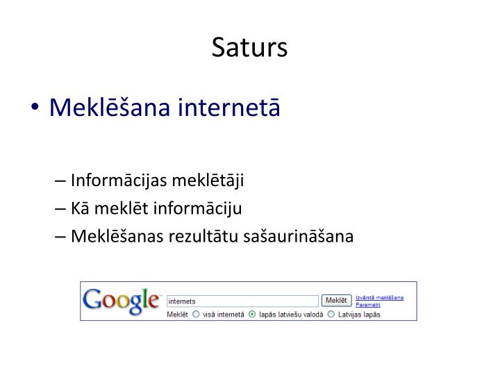Saturs