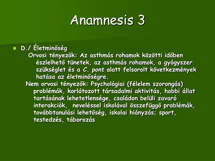 Anamnesis 3