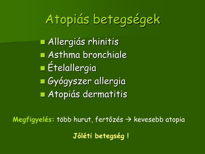 Atopiás betegségek