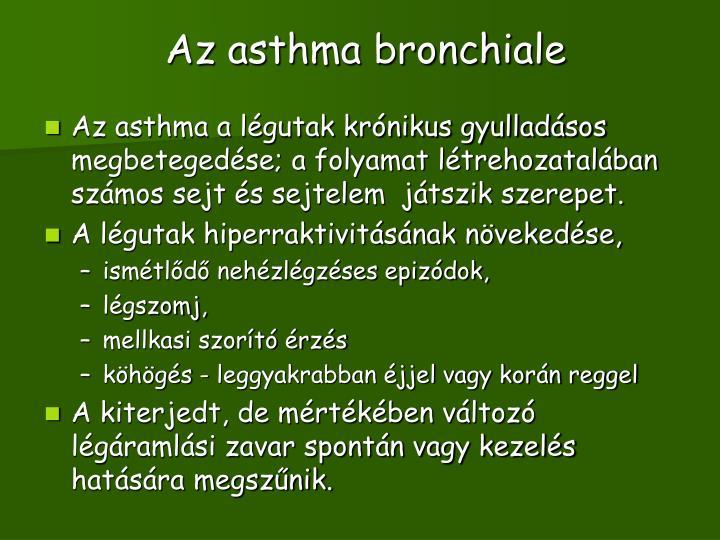 Az asthma bronchiale