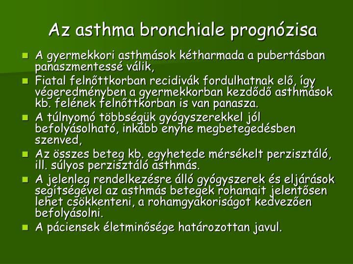 Az asthma bronchiale prognózisa