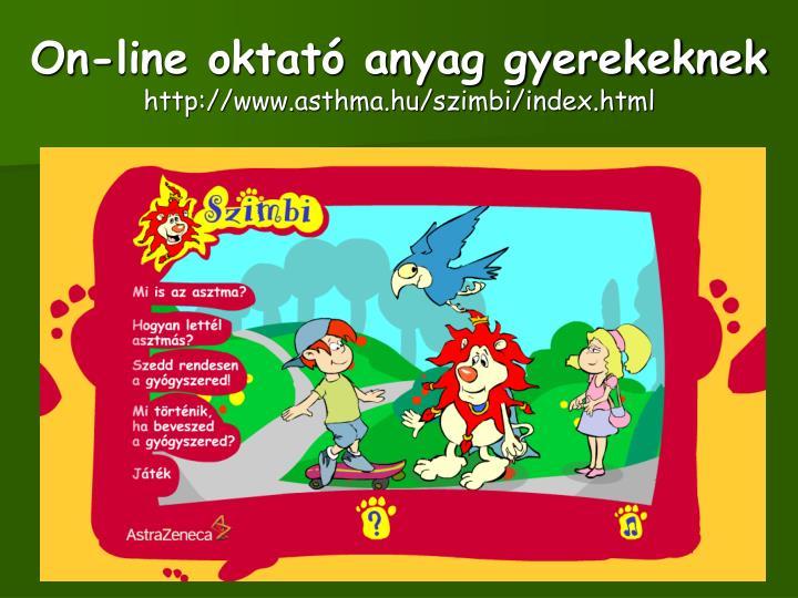 On-line oktató anyag gyerekeknek