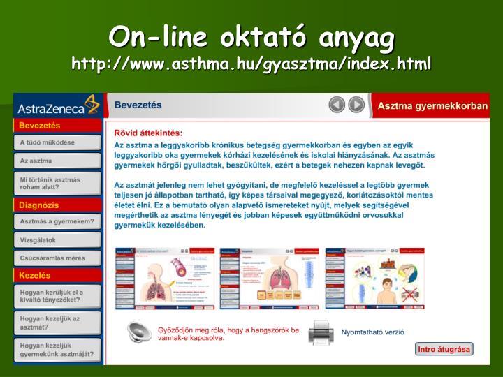 On-line oktató anyag