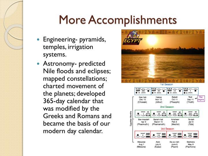 More Accomplishments
