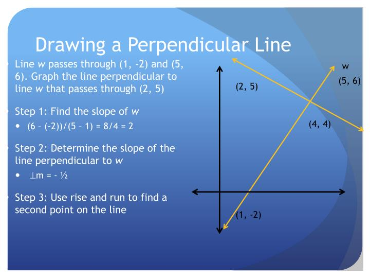 Drawing a Perpendicular Line