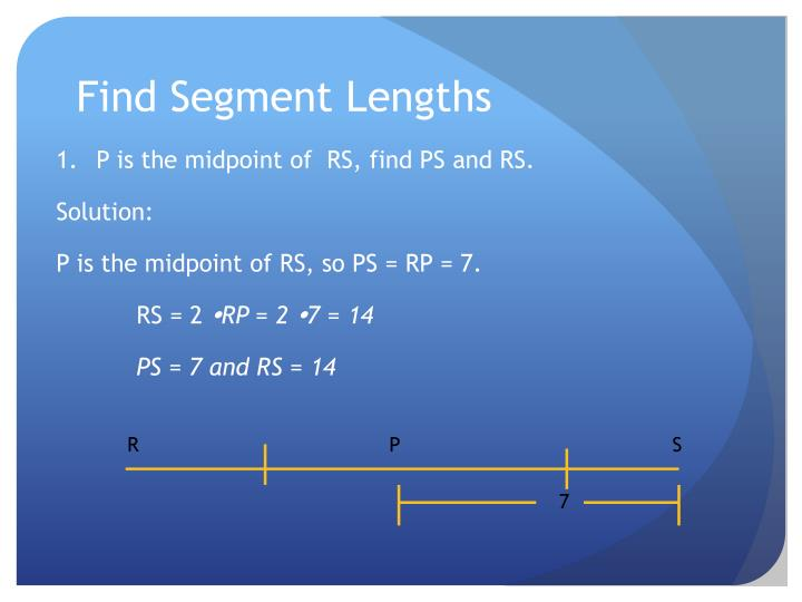 Find Segment Lengths