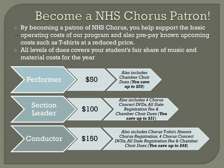 Become a NHS Chorus Patron!