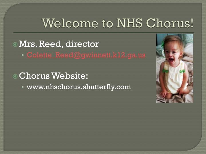 Welcome to NHS Chorus!