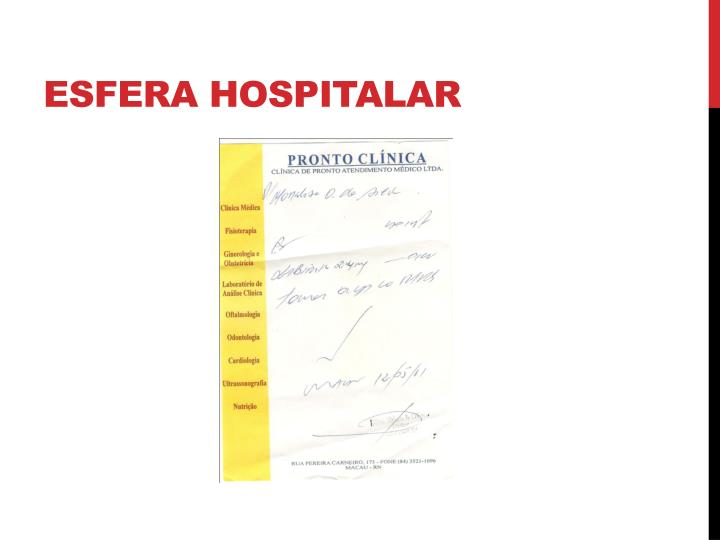 Esfera hospitalar
